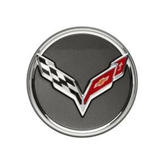 Corvette Chrome Accented Center Cap w/Crossed Flags Logo: 2014 C7