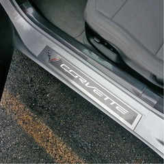 Corvette Clear Door Sill Protectors : C7 Stingray, Z51, Z06, Grand Sport
