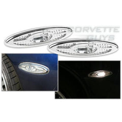 Corvette Clear Rear Side Bumper Lights (97-04)
