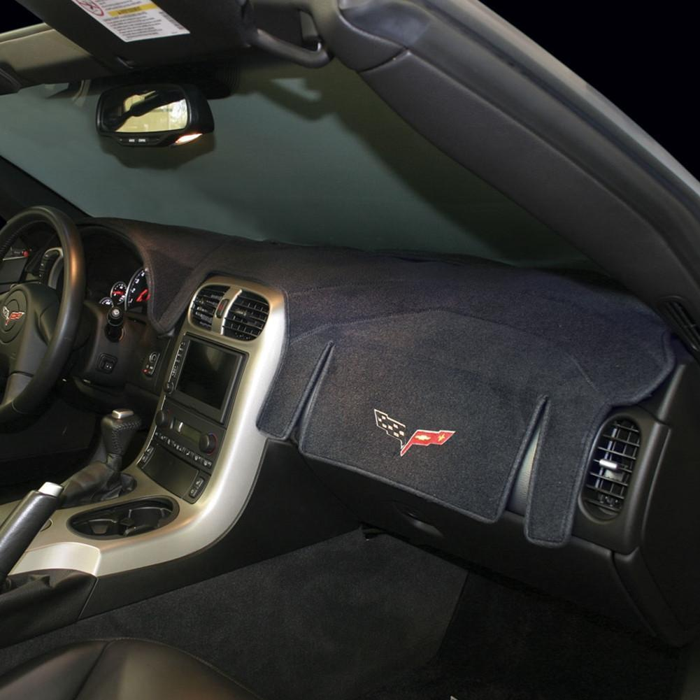Corvette Dash Mat Embroidered 2005 2013 C6 Free Shipping