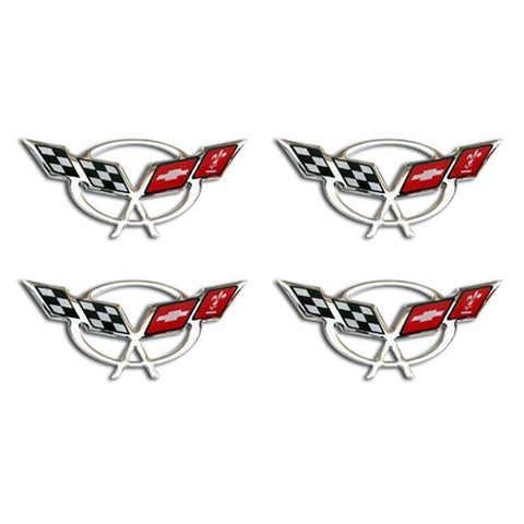 Corvette Domed Decals 2.375