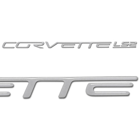 Corvette Domed Fuel Rail Insert Letter/Decals (Set) : 2005-2007 C6 LS2
