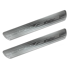 Corvette Door Sill Plates - Chrome Billet Aluminum with Corvette Script : 2005-2013 C6