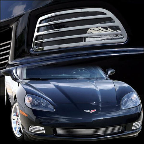 Corvette Driving Light Bezel - Billet Chrome 2 Pc. (05-12 C6)