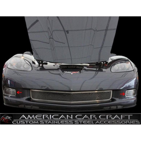 Corvette Driving Light Grille 2 Pc. (Set) - Laser Mesh Stainless Steel : 2006-2013 Z06,ZR1,Grand Sport