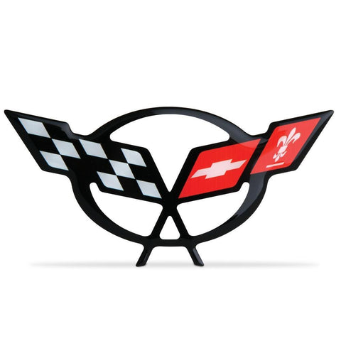 Corvette Engine Air Bridge - Domed Decal 4.5