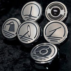 Corvette Engine Cap (Set) - Stainless Steel Executive Series w/Carbon Fiber Insert : 1997-2004 C5 & Z06 Manual