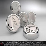 Corvette Engine Cap Set Executive Series Chrome/Brushed Overlay : 1997-2004 C5 & Z06,Engine