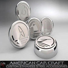 Corvette Engine Cap Set Executive Series Chrome/Brushed Overlay : 1997-2004 C5 & Z06
