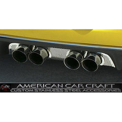 Corvette Exhaust Port Filler Panel - Perforated Stainless Steel for Corsa 3.5