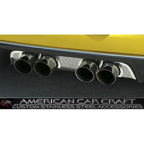 Corvette Exhaust Port Filler Panel - Perfortaed Stainless Steel for NPP Dual-Mode Exhaust : 2008-2013 C6 & Z06