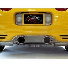 Corvette Exhaust Port Filler Panel - Polished Stainless Steel for Borla Stinger Dual 4