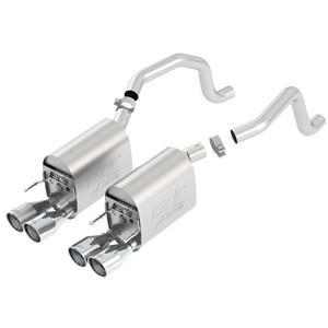 "Corvette Exhaust System - Borla ""S-Type II"" Rear Section - 4"" Round Tip 2005-08 C6,Exhaust"