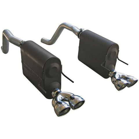 Corvette Exhaust System - Flowmaster Force II (Quad Tip) : 2009-2013 C6