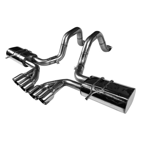 "Corvette Exhaust System - Kooks Axle-Back OEM x 2-1/2"" with Quad 4"" Round Tips : 1997-2004 C5 & Z06,Exhaust"