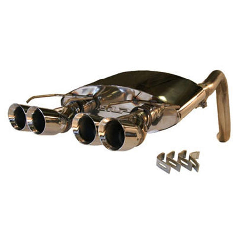 Corvette Exhaust System - SLP PowerFlo with Quad Round Tips : 2010-2013 C6 Grand Sport,Exhaust