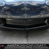 Corvette Front Lower Grille - Laser Mesh Stainless Steel Black Stealth : 2005-2013 C6