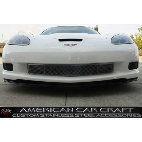 Corvette Front Lower Grille - Laser Mesh Stainless Steel Black Stealth : 2006-2013 Z06,ZR1,Grand Sport