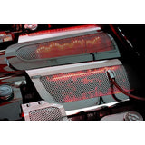 Corvette Fuel Rail Covers - Perforated Stainless Steel (Illuminated) : 2008-2013 C6 LS3