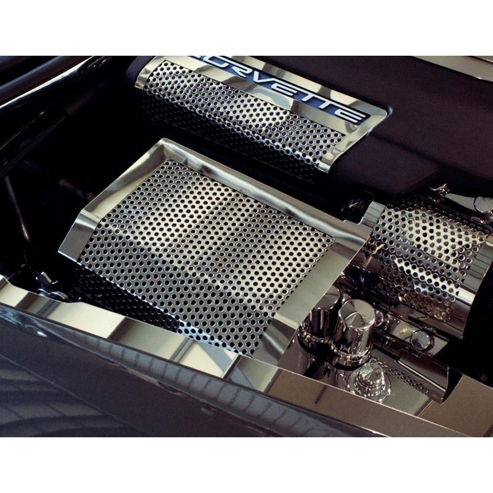 corvette fuse box cover perforated stainless steel. Black Bedroom Furniture Sets. Home Design Ideas