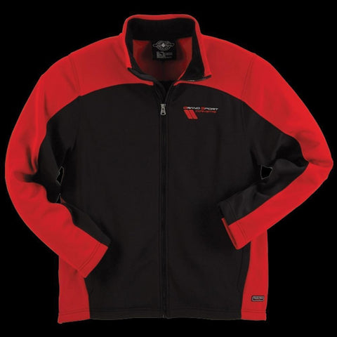 Corvette Grand Sport Jacket Men's Hex Sport Bonded - Red/Black : 2010-2013