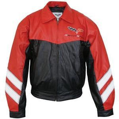 Corvette Grand Sport Leather Jacket Two Tone - Red/Black 2010-2013