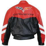 Corvette Grand Sport Leather Jacket Two Tone - Red/Black 2010-2013,Apparel