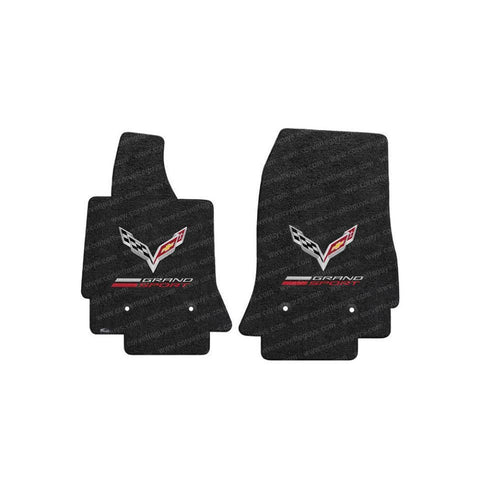 Corvette Grand Sport w/ Crossed Flags Floor Mats - Lloyds Mats : C7 Grand Sport