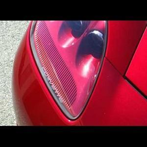 Corvette Headlight Decals - Etched Glass Look : 2005-2013 C6,Z06,ZR1,Grand Sport