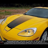 Corvette Hood Fade Stripe Decal - Black : 2005-2013 C6, Z06, Grand Sport,Exterior