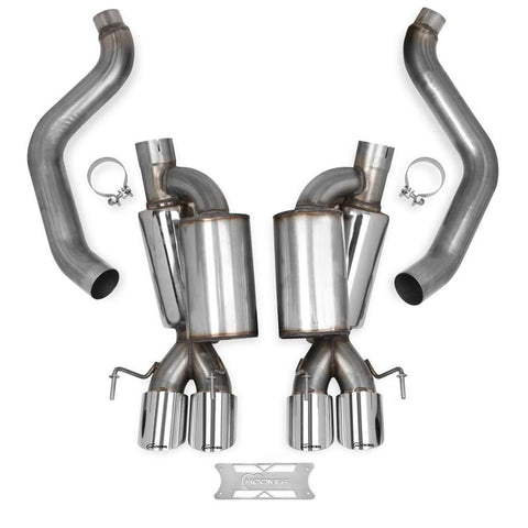Corvette Hooker Blackheart Axle-back Exhaust System : 2005-2008 C6