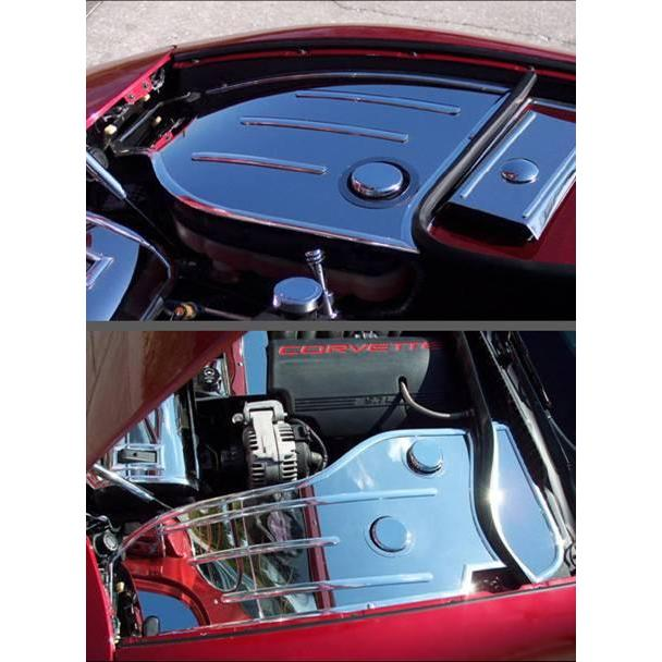 Corvette C5 97-04 UNDER-THE-HOOD LIGHT POLISHED STAINLESS COVER