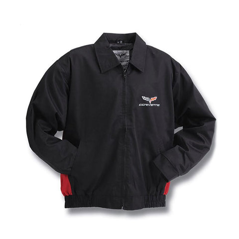 Corvette Jacket - Black and Red Twill Embroidered : C6 2005-2013