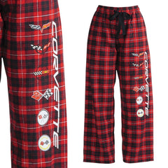 Corvette Ladies Flannel Pajama/Sweatpants - All Generations Logos