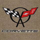 Corvette Lloyds Classic Loop Floor Mats - Double Logo : 1997-04 C5 & Z06