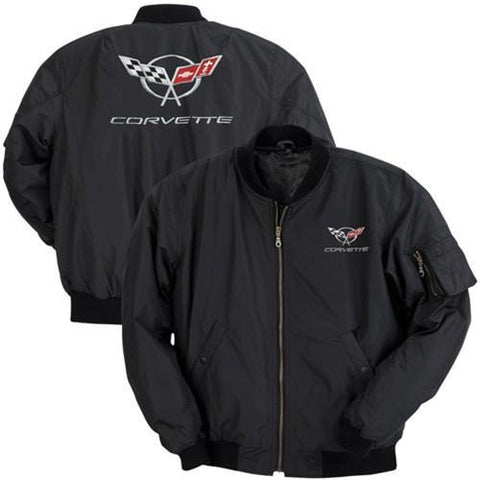 Corvette Men's Jacket Aviator Black with C5 Logo (97-04 C5)