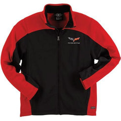 Corvette Men's Jacket Bonded with C6 Logo - Red/Black (05-12 C6)