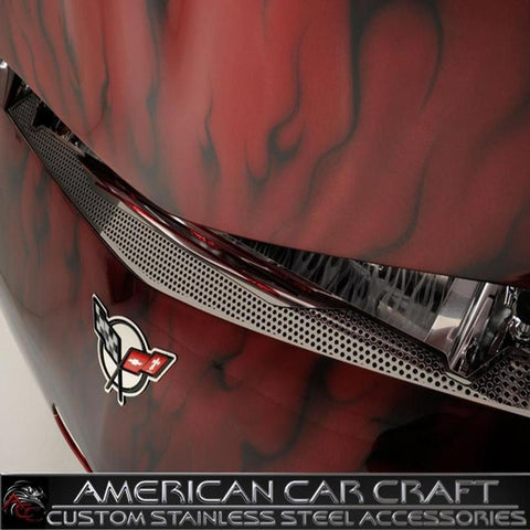Corvette Nose Cap - Perforated Stainless Steel Cover : 1997-2004 C5 & Z06