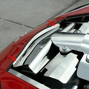Corvette Nose Cap - Polished Stainless Steel : 2008-2013 C6 & Grand Sport
