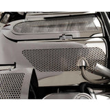 Corvette Plenum Cover - Perforated Stainless Steel : 1999-2004 C5 & Z06