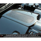 Corvette Plenum Cover - Perforated Stainless Steel : 2005-2013 C6,Engine