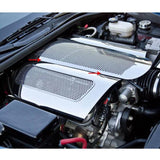 Corvette Plenum Cover Low Profile - Perforated Stainless Steel : 2006-2013 C6 Z06,Engine
