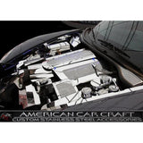 Corvette Plenum Cover Low Profile - Perforated Stainless Steel : 2008-2013 C6 & 2010-2013 Grand Sport
