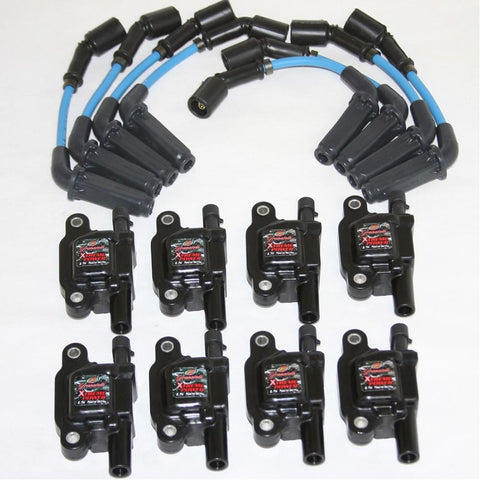Corvette Plug Wires / High Performance Coil Kit - Granatelli Motorsports 8mm Blue : 2005-2013 LS2,LS3,LS7 & 2014 Stingray LT1