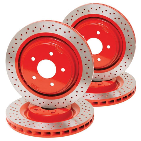 Corvette Powder Coated Rotors for Z51 Brakes : 2005-2013 C6