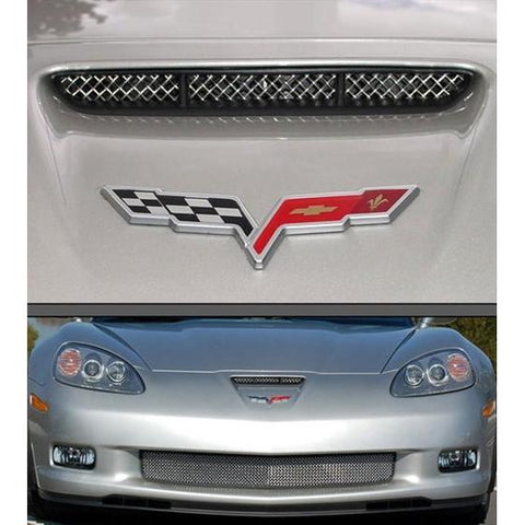 Corvette RaceMesh Air Intake Nose Scoop Grille : 2006-2013 Z06,Exterior