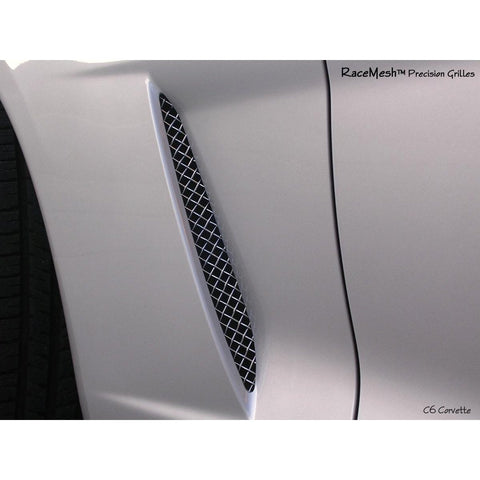 Corvette RaceMesh Fender Ducts Grilles : 2005-2013 C6 only