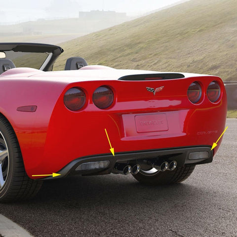 Corvette Rear Lower Bumper Exhaust Panel, Coupe or Convertible : 2005-2013 C6