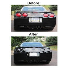 Corvette Rear Reverse, 3rd Brake, Taillight Acrylic Blackout Kit 7 Pc. : 1997-2004 C5 & Z06