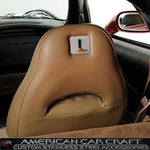 Corvette Seat Back Lever Trim Plate - Brushed Stainless Steel : 1997-2013 C5 & C6,Interior